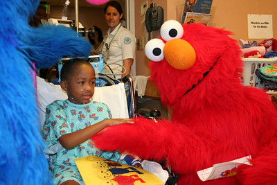 Elmo and Super Grover Hospital Visit (Baltimore- September 2010)