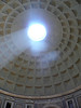 Light from the roof in the Pantheon, Rome