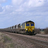 66550 Glides towards Worlaby Carrs UWC with 4R08 1000 Hunslet Sidig's - Immingham H.I.T. HXA hoppers once loaded at Immingham the sme loco and wagons departed at 15:30 as 6F98 For Cottam Power Station.