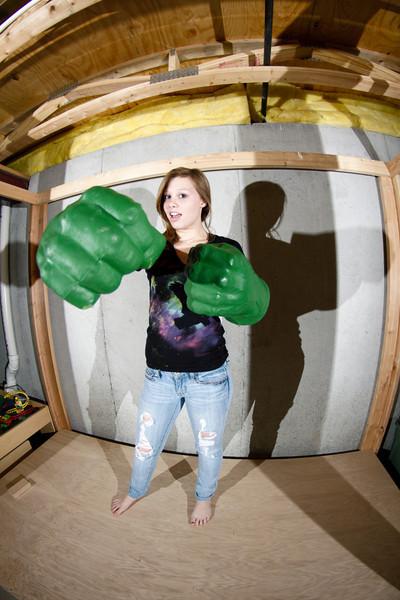 Megan, in Chris & Doug's basement