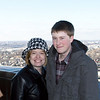 Cheri with Alex, at top of WWI museum tower.