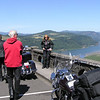 Rick, Dave and Tedi with view of Columbia River