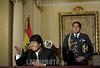 Bolivia - La Paz : El Presidente de Bolivia, Juan Evo Morales Ayma en una conferencia de prensa . / President of Bolivia, Juan Evo Morales Ayma, in press conference. / Der bolivianische Präsident Evo Morales während einer Pressekonferenz am 11.02.2010. © Daniel Caballero/LATINPHOTO.org