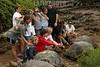 Invasion humana al medio ambiente . Galapagos. Ecuador. Tortugas. / Galapagos tortoise or Galapagos giant tortoise (Geochelone nigra) is the largest living species of tortoise. / Ekuador : Touristen beobachten eine Riesenschildkröten (Chelonoidis nigra) auf den Galapagos Inseln. © German Falke/LATINPHOTO.org