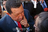 Uruguay: Presidente de Venezuela Hugo Chavez en el acto de Traspaso de Mando Presidencial el 01 de Marzo de 2010 en Montevideo . / Venezuela President Hugo Chavez in the act of Presidential handover , in Montevideo, March 01, 2010 in Uruguay. / Der venezolanische Präsident Hugo Chavez spricht an der Amtseinsetung des neu gewählten uruguayischen Präsidenten am 01.03.2010 in Montevideo zu den Medien. © Pablo Vignali/LATINPHOTO.org