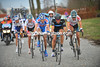 This is an exciting move as the escape reaches the 3-kilometre stretch of cobbles at Lange Munte...