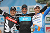 Flecha looks happier than ever before as he savours victory with Haussler and Farrar...