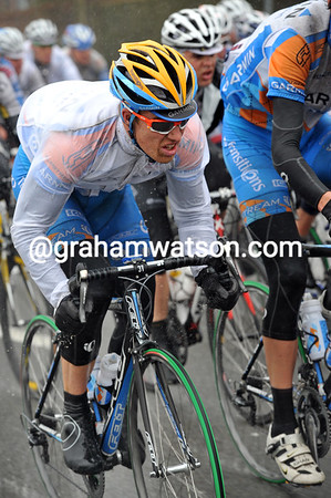 Tyler Farrar's face says it all - this is going to be one very hard and nasty day...