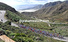 The big climb of the day is taking the Tour of Murcia up to the Alto del Cedacero - that's quite a view they've got..!
