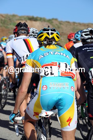With that dreaded No.13 on his back, Max Iglinsky is taking things easy at the back of the peloton...