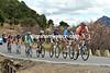 Stef Clement leads the escape up the Alto de San Juan with a four minute lead...