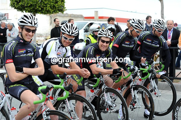 The rookies from Endura are laughing as well - or is it just nerves..?