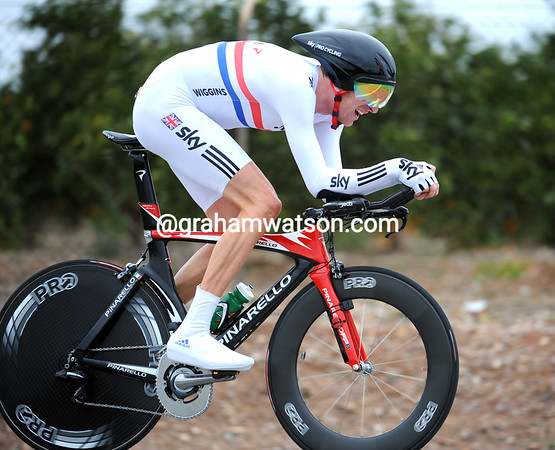 Favourite to win today, Bradley Wiggins settled for third-place at 48-seconds...