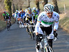 Nicholas Roche ignites the racing on the final climb - the Irishman looks good..!
