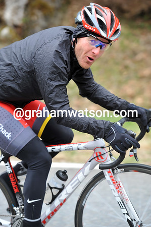 """I'm frozen after that long descent"", says Levi Leipheimer..."