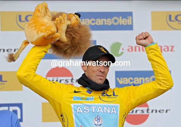 Alberto Contador has won the stage and taken the Yellow Jersey, and put himself in with a chance to win overall...