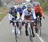 Seven men are away after 20-kilometres - led by Julian Loubet...