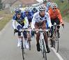 Seven men are away after 20-kilometres - led by Julian Loubet...