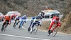 Amael Moinard leads the escape down the Cote de Montsalvy...