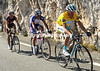 Contador has Rodriguez and Valverde with him on the Col d'Eze - and Luis Leon Sanchez will join them on the long descent...