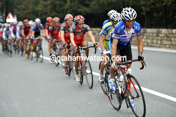 Carlos Barredo is leading the chase up the Capo Mele...