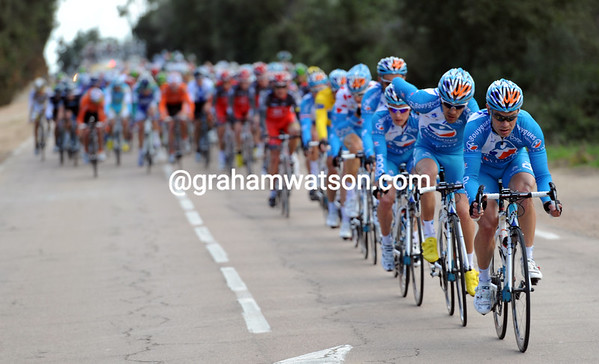 Bbox is, of course, leading the peloton in pursuit...but not too hard!