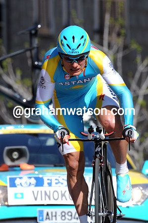 Alexandre Vinokourov also seems back in business - the Kazakh took 14th place at 19-seconds...