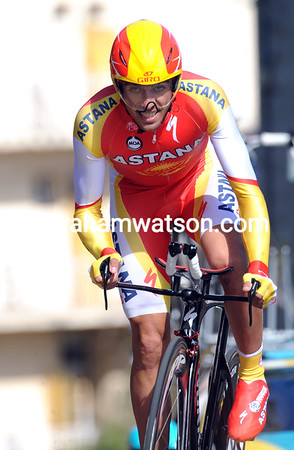 Alberto Contador took 2nd place at just two-seconds of the winner...