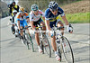 Millar has been caught by Bjorn Leukemans and Philippe Gilbert 10-kilometres from the Mur de Grammont...