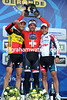 Fabian Cancellara shares the podium with Tom Boonen and Philippe Gilbert - see you in Roubaix, guys..!