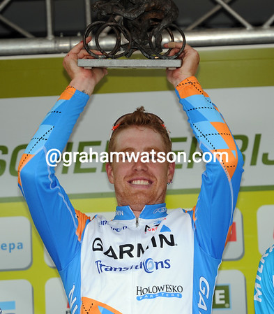 The good times are back for Tyler Farrar - he's become the first-ever American winner of this semi-Classic...