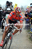 Cancellara is actually showing the strain as he enters the Carrefour de l'Arbre...