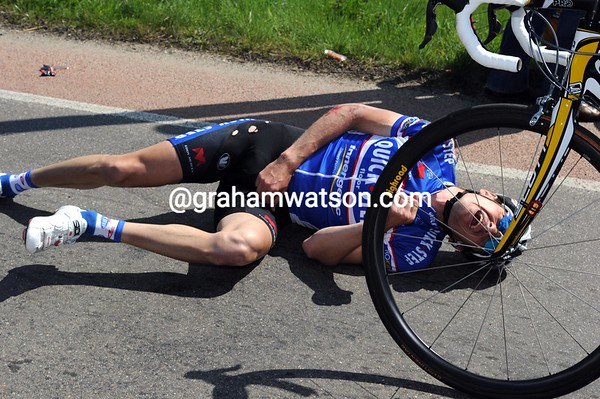 Dario Cataldo is one of many crash victims on today's narrow roads...