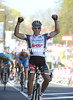 Philippe Gilbert wins the Amstel Gold Race after attacking with 800-metres to go...