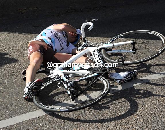 Reni Mandri has crashed on the descent...