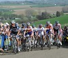 The peloton is still more or less intact on the second ascent of the Gulpenerberg at 230-kilometres...