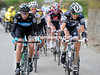 Laurent Didier and Christophe Froome are still stuck between the escape and peloton...