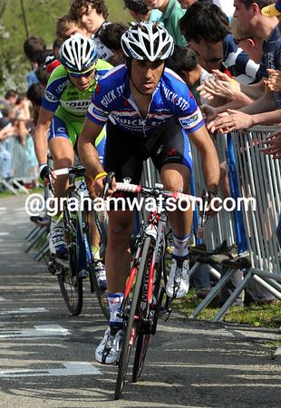La Redoute - Carlos Barredo has emerged ahead of everyone else on this steep climb...