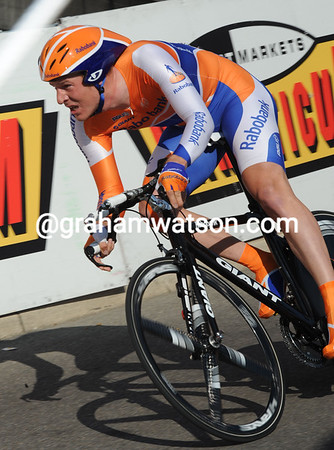 Rick Flens was the only Rabobank rider in the top ten - the Dutchman placed 5th at four-seconds...