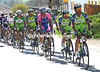 Liquigas is now firmly in control of the peloton in the last 25-kilometres...