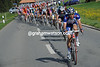 Katusha chase Brandle down to help create a sprint-finish...