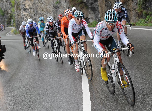 Jean-Christophe Peraud is the man leading an escape away on the first climb...