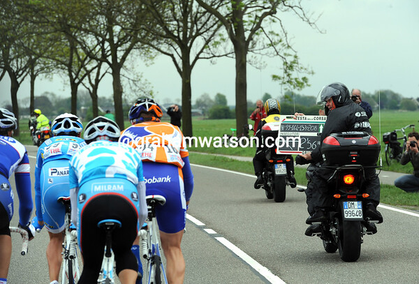 Their lead is almost three minutes after 10-kilometres of racing...
