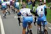 Teamwork - Svein Tuft lends a hand to Christian Vande Velde in a quiet moment...