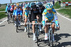 Alexandre Vinokourov looks formidable at the front of this group...