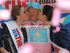 Alexandre Vinokourov is the new race-leader - and isn't the Kazakh happy about it..!