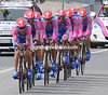 "Team Lampre, led here by Damiano Cunego, took 13th place at 1'43""..."