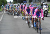 Lampre is still the only team chasing...but the gap is down to less than three minutes now...