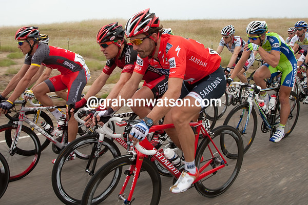 Cancellara was most likely happy that the pace wasn't too demanding today as he's been a touch under the weather.