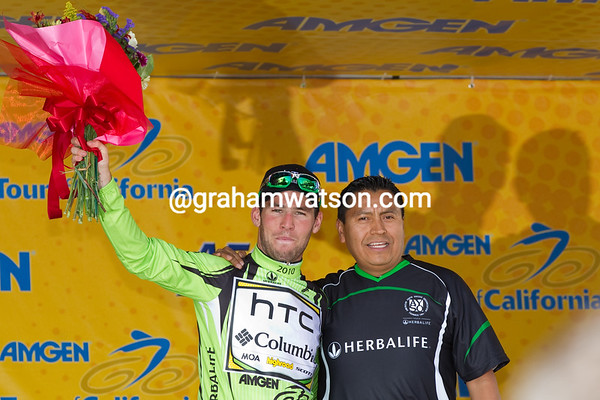 and his favorite color - the green jersey too.